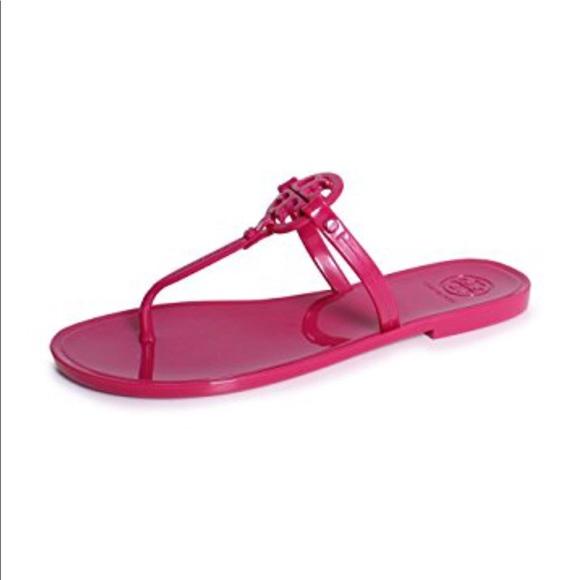 b8c37472962bcb Tory Burch Mini Miller fiesta pink jelly Sandal 9.  M 5b2bf22c2e147816225e49c7
